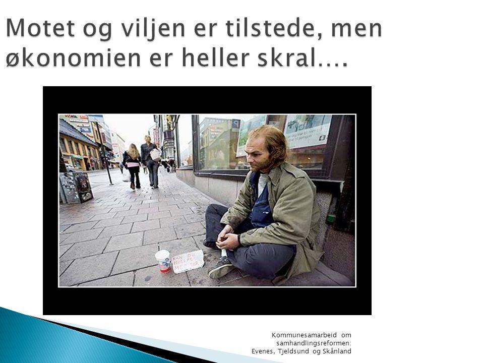 Kommunesamarbeid om samhandlingsreformen: Evenes, Tjeldsund og Skånland Motet og viljen er tilstede, men økonomien er heller skral….