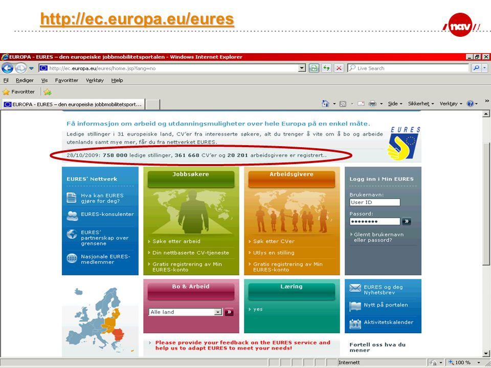 NAV, 18.07.2014Side 7 http://ec.europa.eu/eures