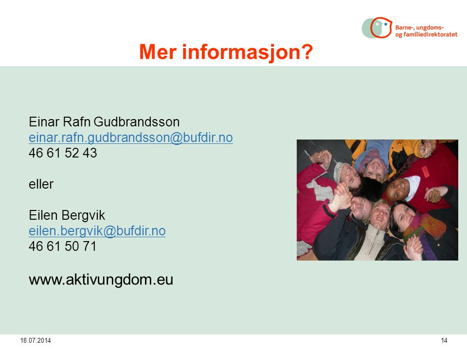 18.07.201414 Mer informasjon.