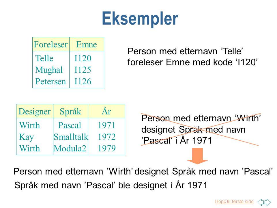 Hopp til første side Informasjonskilder n Tabeller (evt fra tidligere system) n Skjema n Grafer n Eksempler fra UoD ekspert(er)