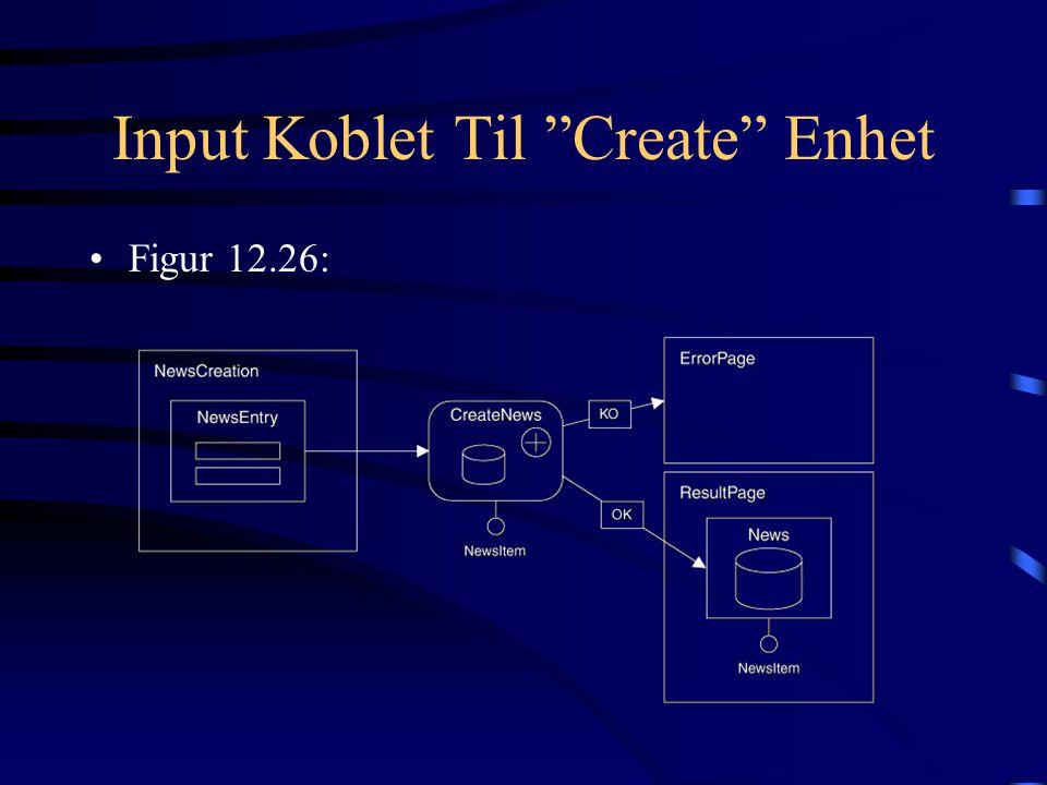 Input Koblet Til Create Enhet Figur 12.26: