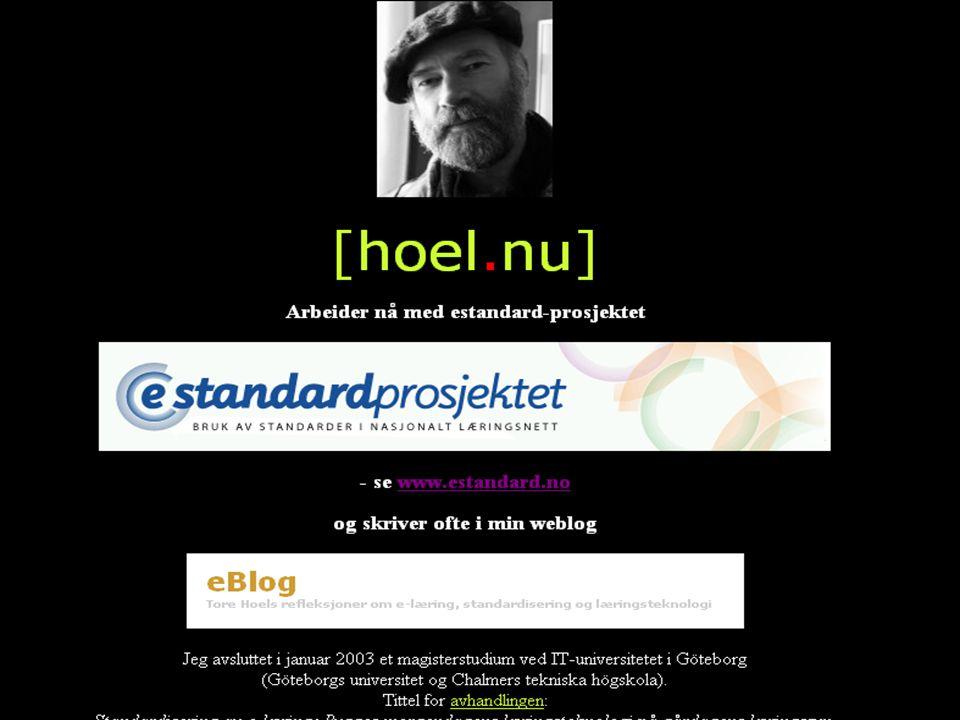 Kvalitet og gjenbruk - krav til standarder Tore Hoel eStandard-prosjektet www.estandard.no VOX-seminar om e-læring, kvalitet og gjenbruk Stavanger 10.