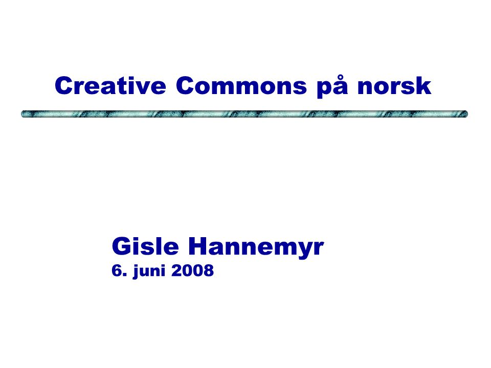 2008-06-06HannemyrSide #12 Microformat: rel= license Rel-License is one of several MicroFormats.