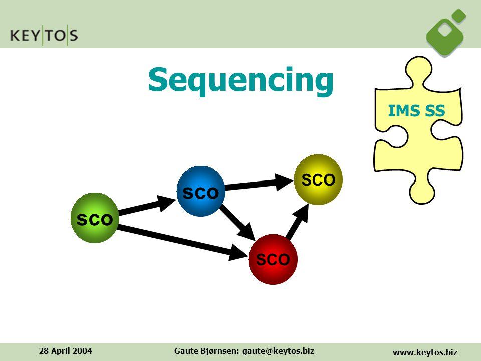 www.keytos.biz 28 April 2004Gaute Bjørnsen: gaute@keytos.biz Sequencing IMS SS SCO sco SCO sco