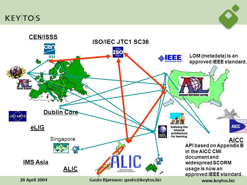 www.keytos.biz 28 April 2004Gaute Bjørnsen: gaute@keytos.biz ADL Co-Labs and Partnership Labs Et åpent samarbeids miljø for deling av forskning, utvikling og evaluering av læringsteknologi.