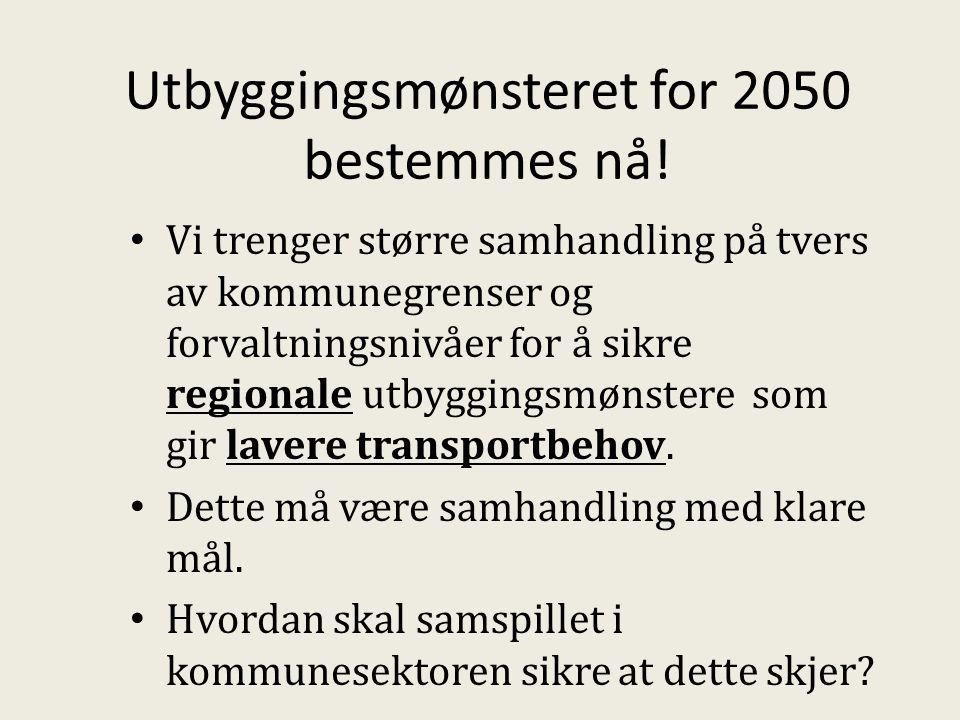 Utbyggingsmønsteret for 2050 bestemmes nå.