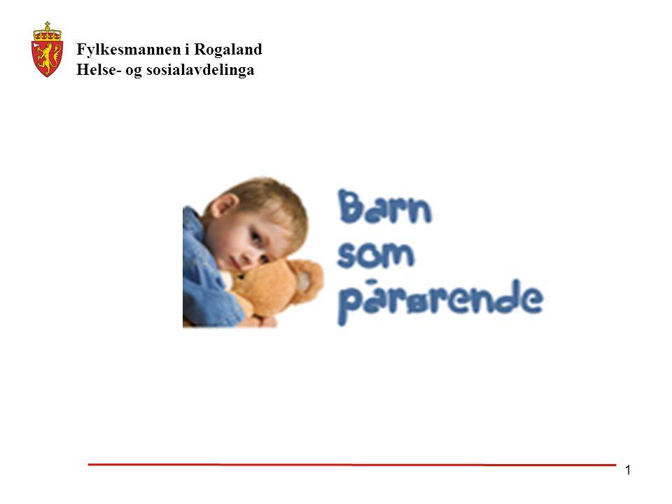 Fylkesmannen i Rogaland Helse- og sosialavdelinga 1