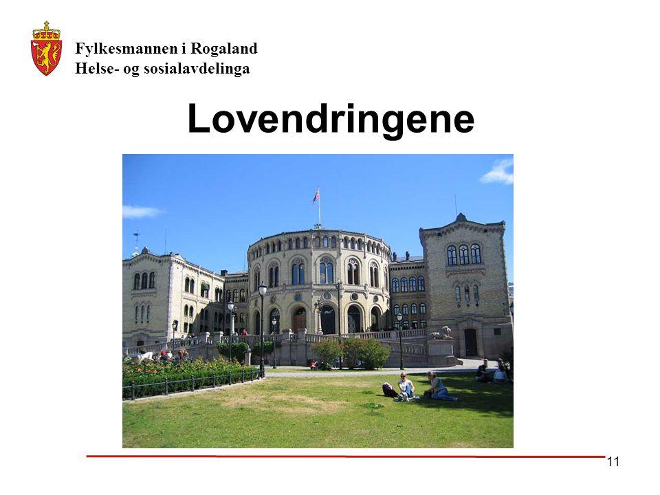 Fylkesmannen i Rogaland Helse- og sosialavdelinga 11 Lovendringene