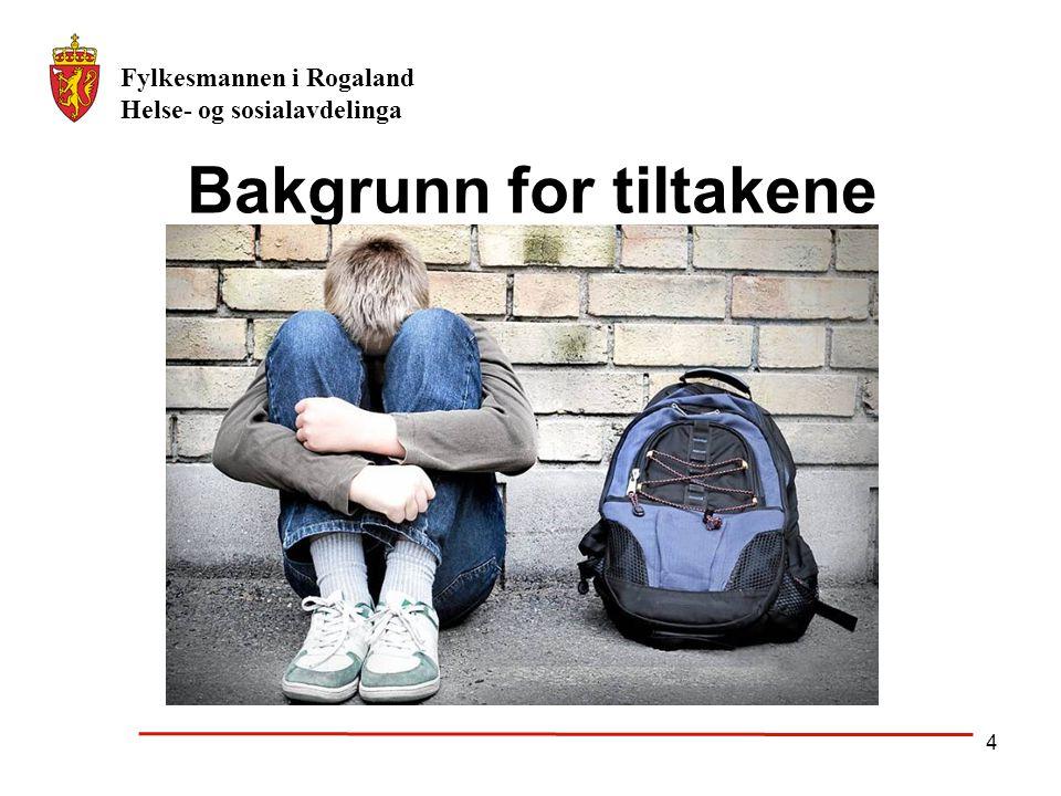 Fylkesmannen i Rogaland Helse- og sosialavdelinga 4 Bakgrunn for tiltakene