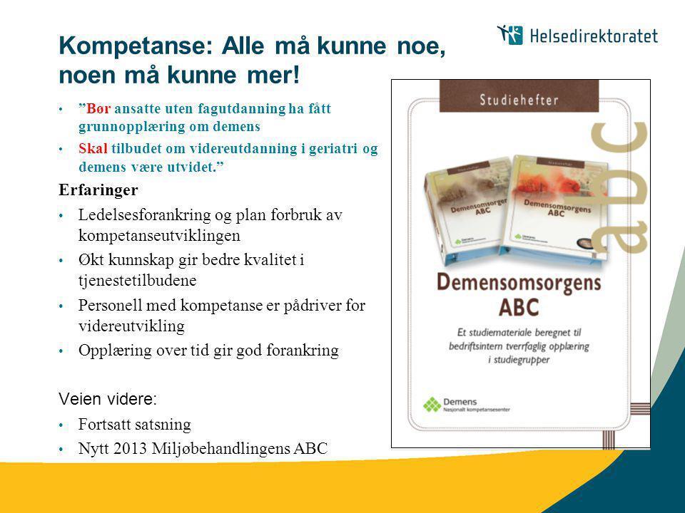 aktivitet ABC aktivitet Nasjonalt kompetansesenter for aldring og helse 2012 