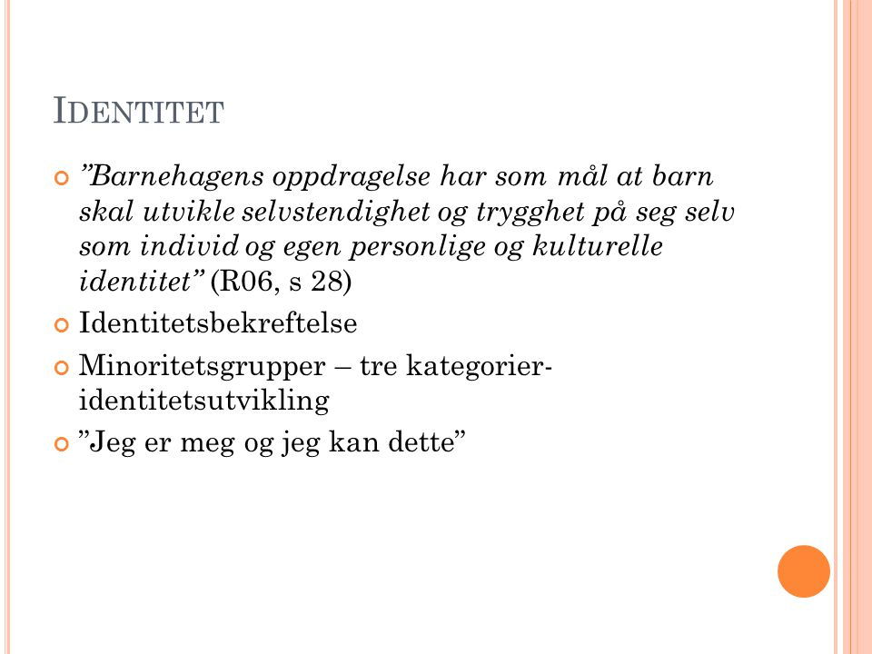 L ITTERATUR Moser,T & Røthle,M (red.)(2007) Ny rammeplan- ny barnehagepedagogikk.