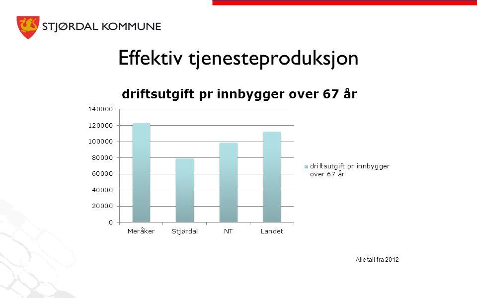 Effektiv tjenesteproduksjon Alle tall fra 2012