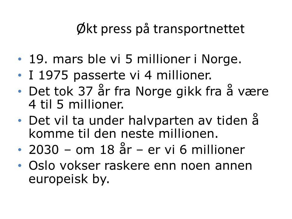 6 Bompengeprosjekter i Norge Levetid normalt 15 år.