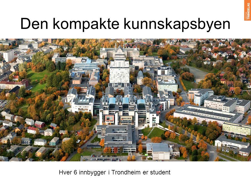 Den kompakte kunnskapsbyen Hver 6 innbygger i Trondheim er student