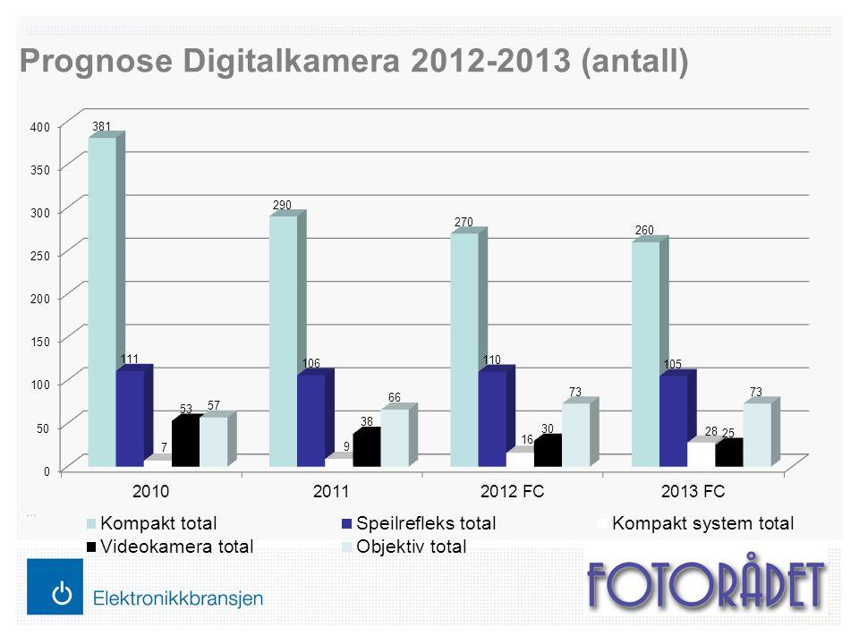 Prognose Digitalkamera 2012-2013 (antall)
