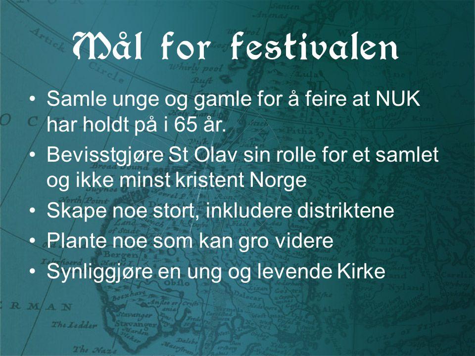 Mål for festivalen Samle unge og gamle for å feire at NUK har holdt på i 65 år.