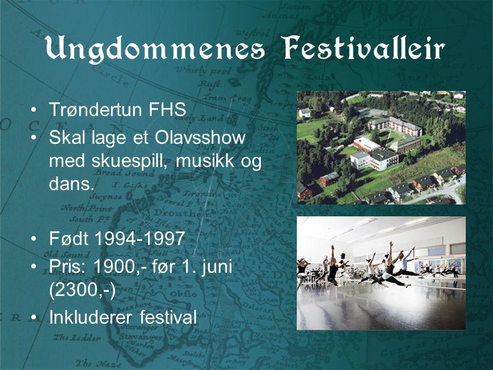 Ungdommenes Festivalleir Trøndertun FHS Skal lage et Olavsshow med skuespill, musikk og dans.