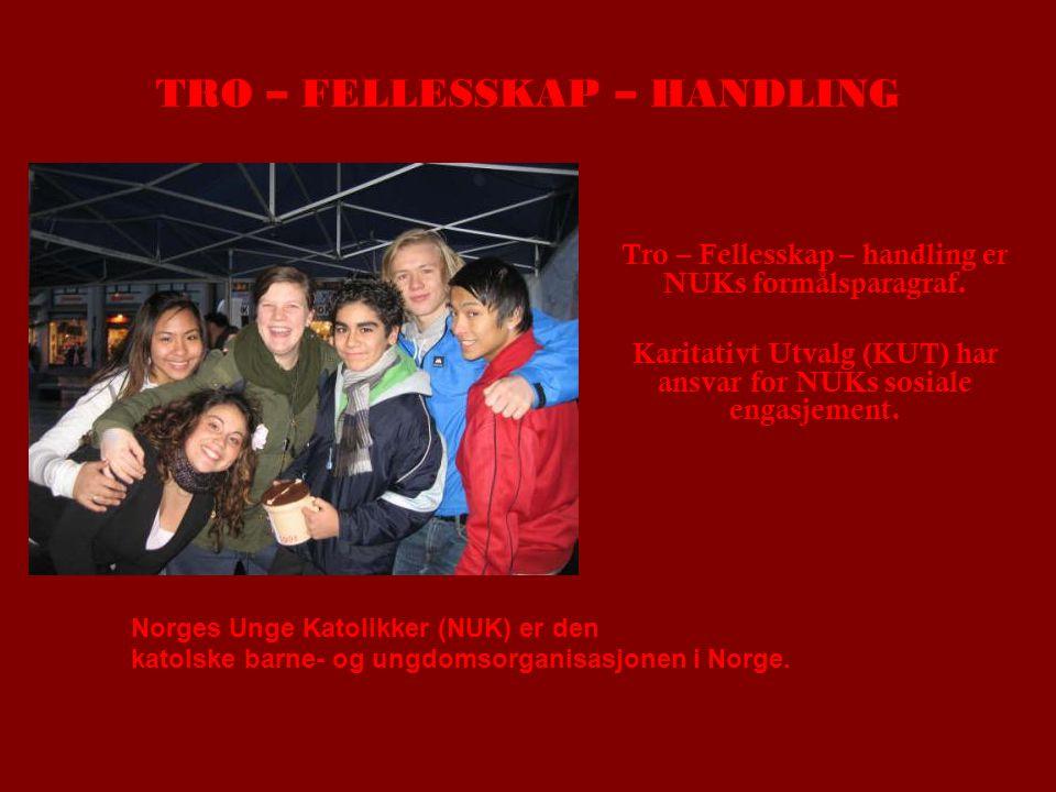TRO – FELLESSKAP – HANDLING Tro – Fellesskap – handling er NUKs formålsparagraf.