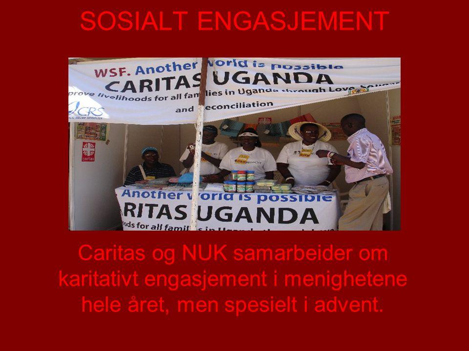 SOSIALT ENGASJEMENT Caritas og NUK samarbeider om karitativt engasjement i menighetene hele året, men spesielt i advent.