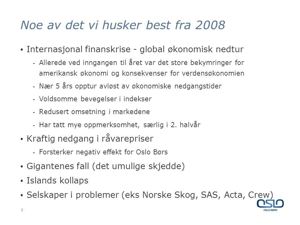Finanskrisen – ikke forårsaket av børsnoterte instrumenter Aksjer notert på Oslo Børs - 590 Mrd NOK