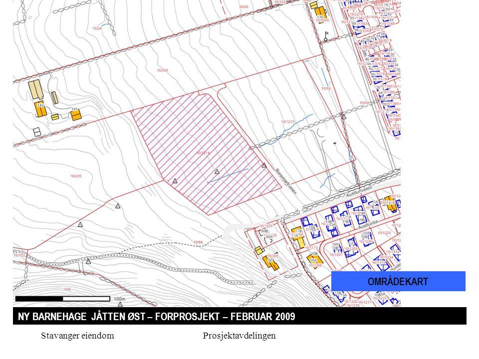 Stavanger eiendomProsjektavdelingen NY BARNEHAGE JÅTTEN ØST – FORPROSJEKT – FEBRUAR 2009 TERRENGSNITT