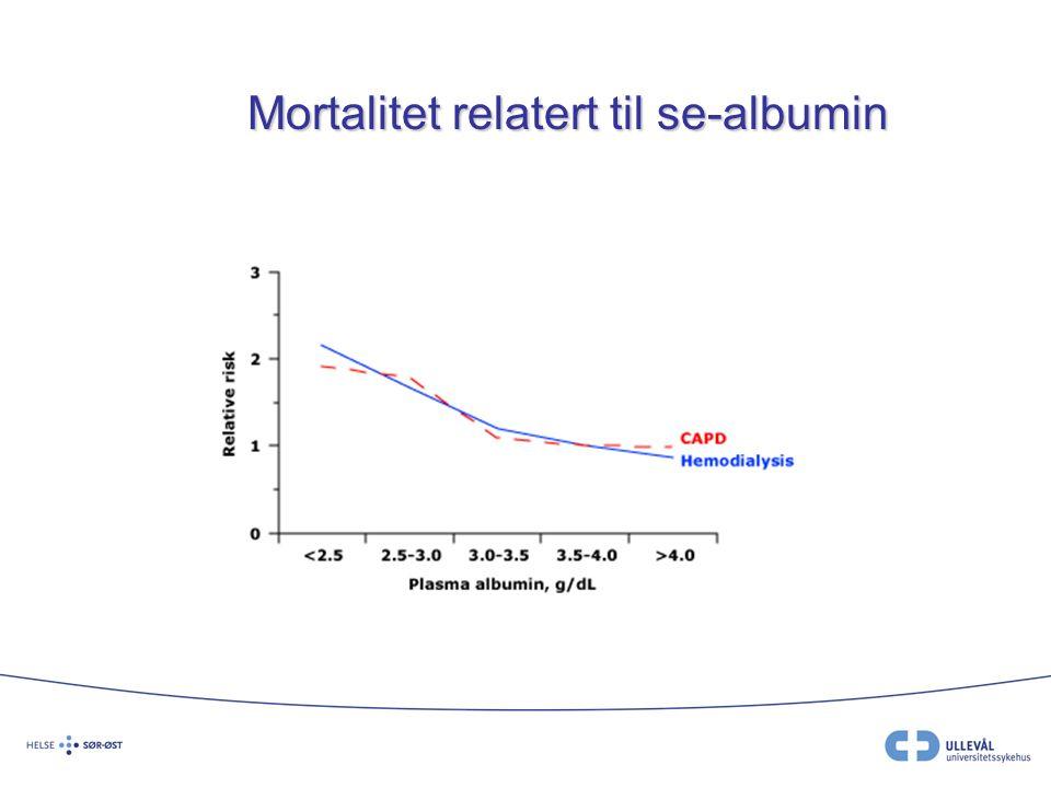 Mortalitet relatert til se-albumin