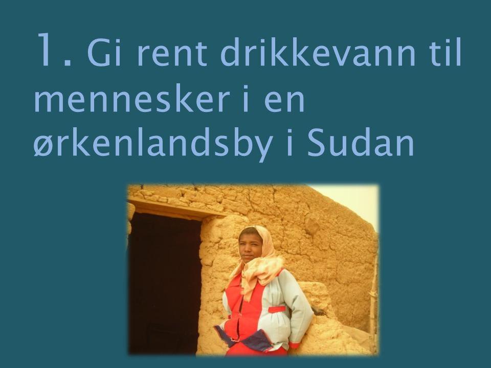 1. Gi rent drikkevann til mennesker i en ørkenlandsby i Sudan