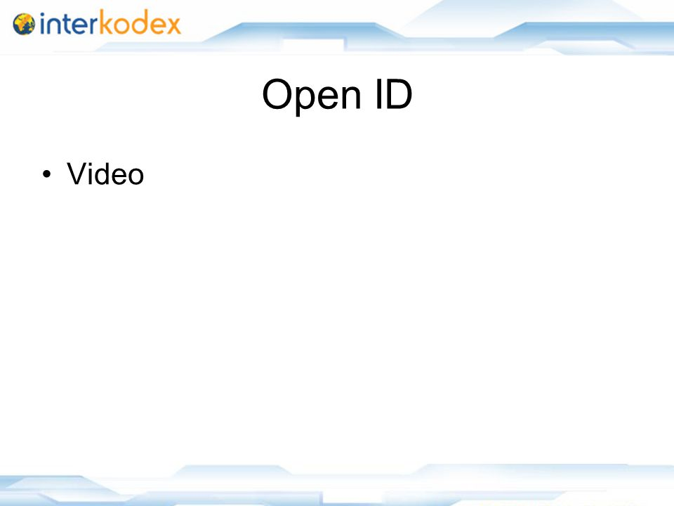 14 Open ID Video