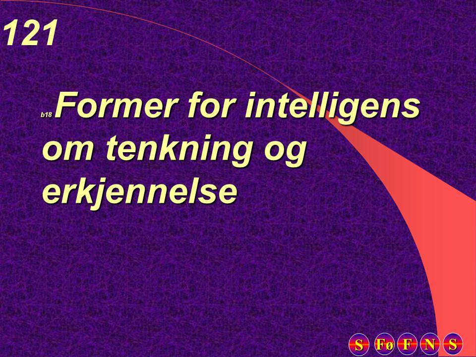 Fø FFFF NNNN SSSS SSSS 121 b18 Former for intelligens om tenkning og erkjennelse