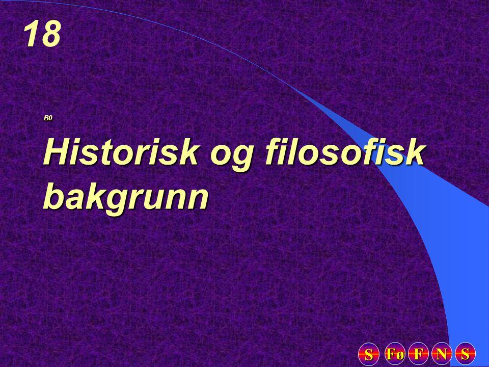 Fø FFFF NNNN SSSS SSSS 18 B0 Historisk og filosofisk bakgrunn B0 Historisk og filosofisk bakgrunn
