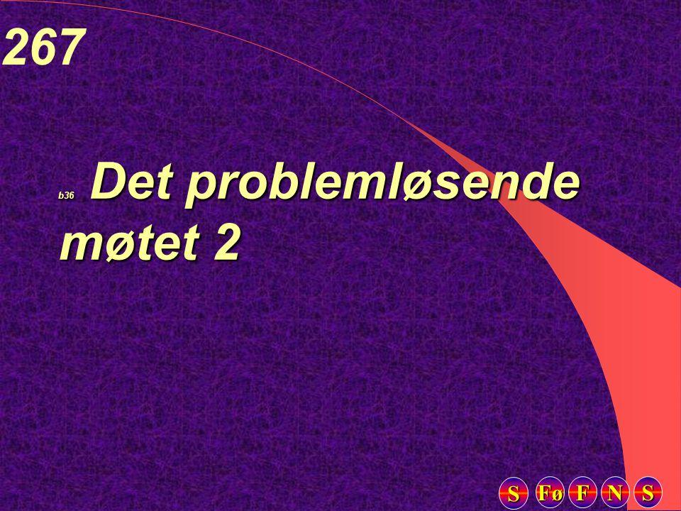 Fø FFFF NNNN SSSS SSSS 267 b36 Det problemløsende møtet 2
