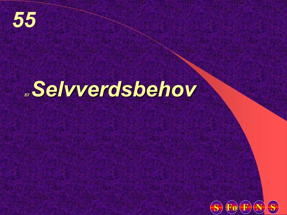 Fø FFFF NNNN SSSS SSSS 55 B7 Selvverdsbehov