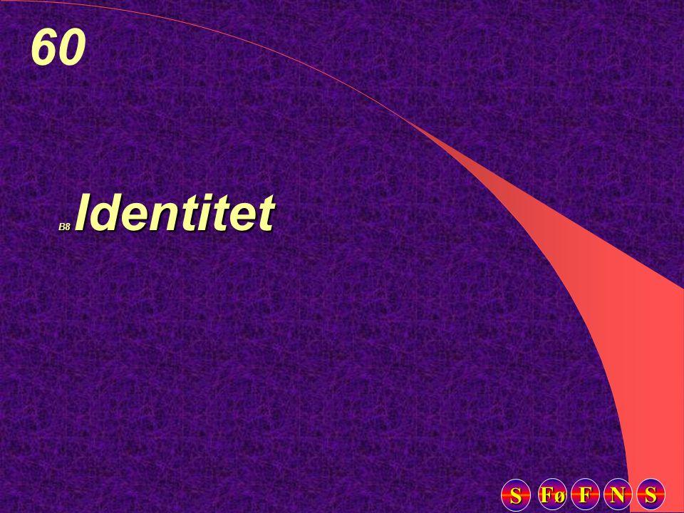 Fø FFFF NNNN SSSS SSSS 60 B8 Identitet