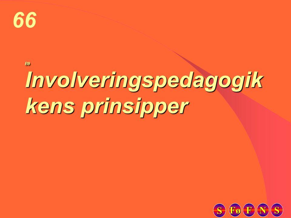 Fø FFFF NNNN SSSS SSSS 66 B9 Involveringspedagogik kens prinsipper