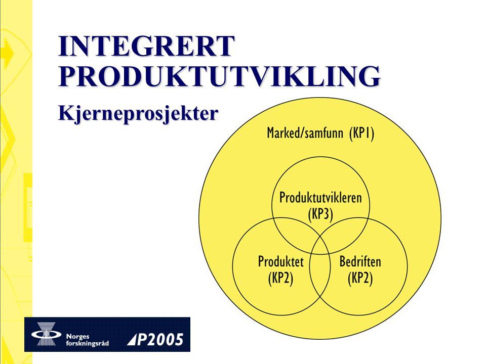 INTEGRERT PRODUKTUTVIKLING Kjerneprosjekter