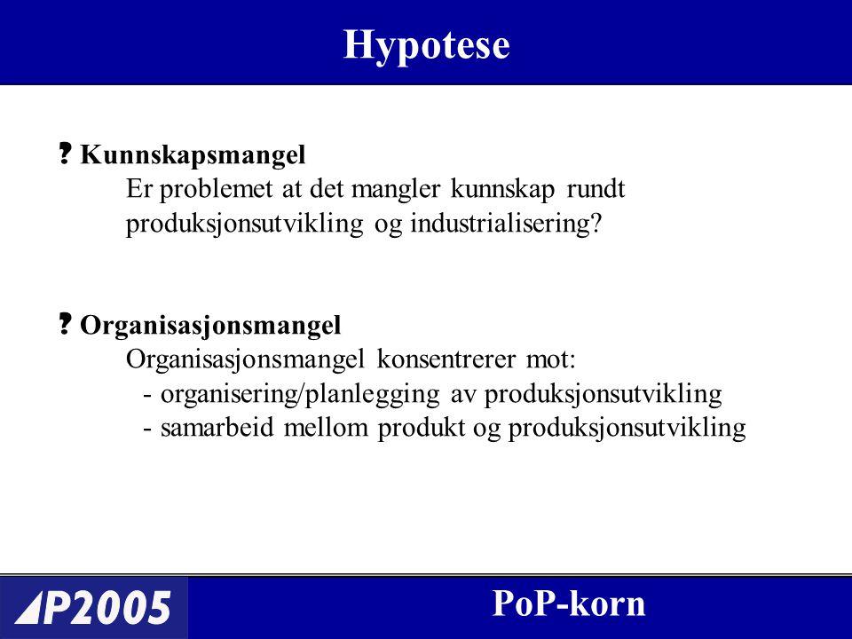 PoP-korn Hypotese .