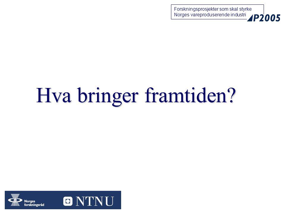 11 Forskningsprosjekter som skal styrke Norges vareproduserende industri Hva bringer framtiden