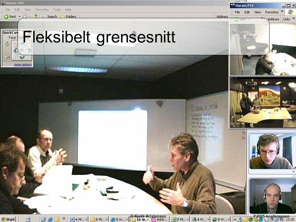 13 Fleksibelt grensesnitt © Kjetil Kristensen P2005-konferansen
