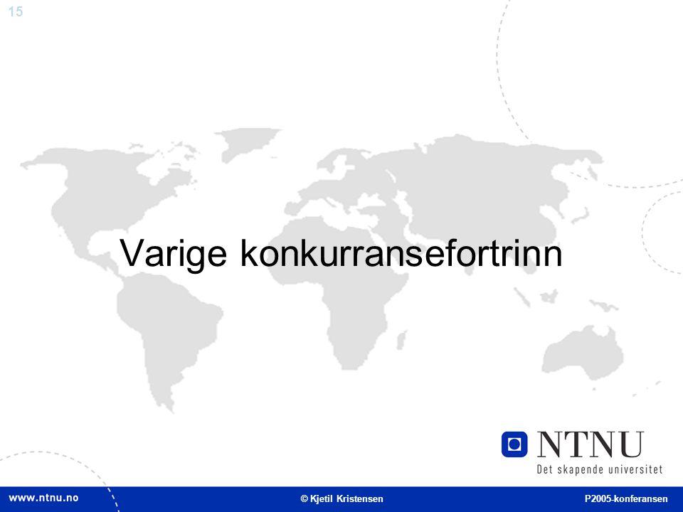 15 Varige konkurransefortrinn © Kjetil Kristensen P2005-konferansen