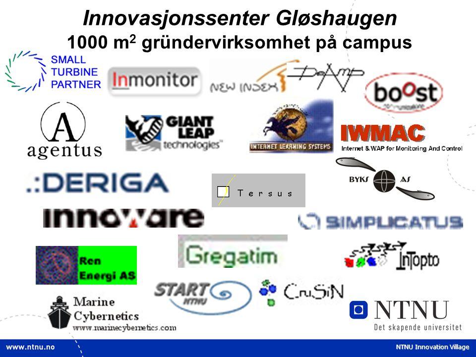 NTNU Innovation Village Innovasjonssenter Gløshaugen 1000 m 2 gründervirksomhet på campus