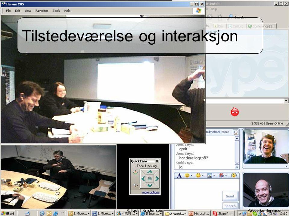 14 Tilstedeværelse og interaksjon © Kjetil Kristensen P2005-konferansen