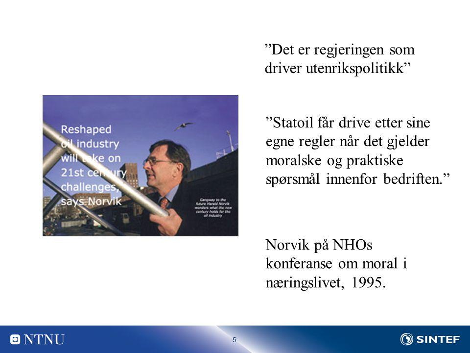 5 Norvik på NHOs konferanse om moral i næringslivet, 1995.