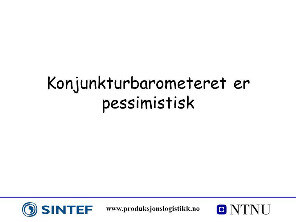 www.produksjonslogistikk.no Konjunkturbarometeret er pessimistisk