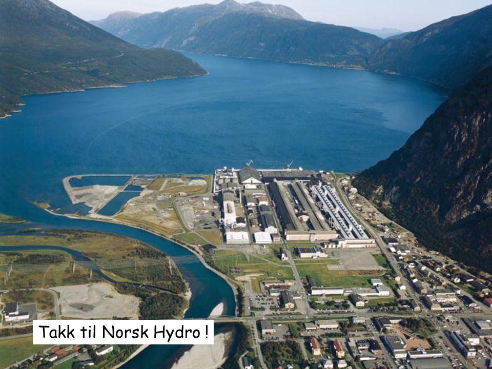 Takk til Norsk Hydro !