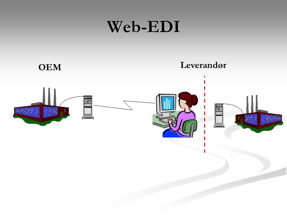 Web-EDI OEM Leverandør