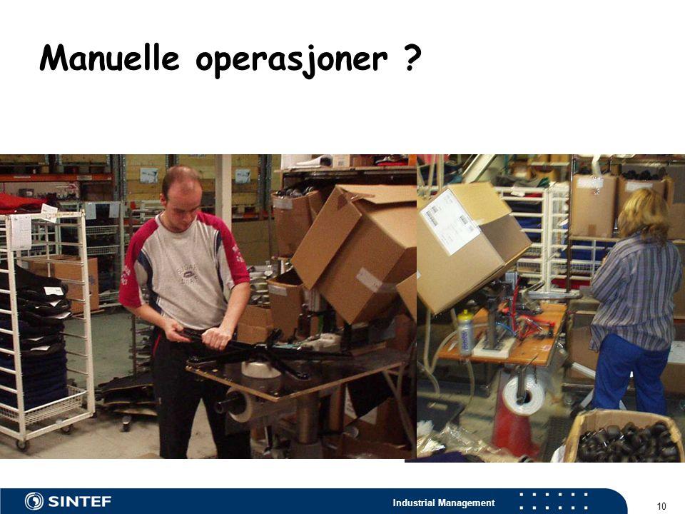 Industrial Management 10 Manuelle operasjoner ?