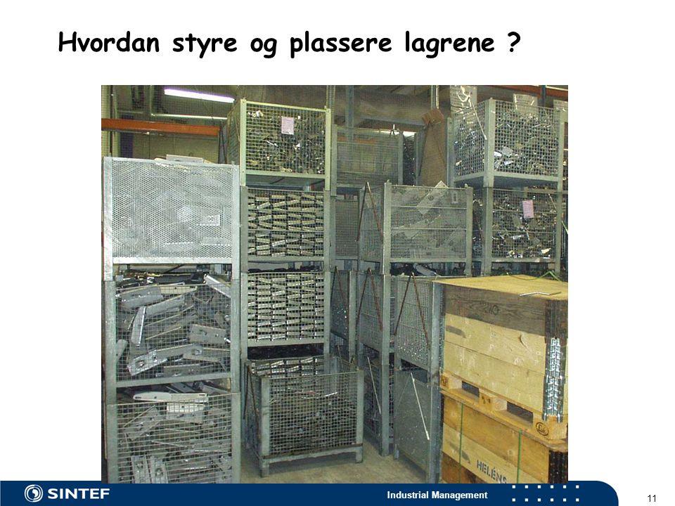 Industrial Management 11 Hvordan styre og plassere lagrene ?
