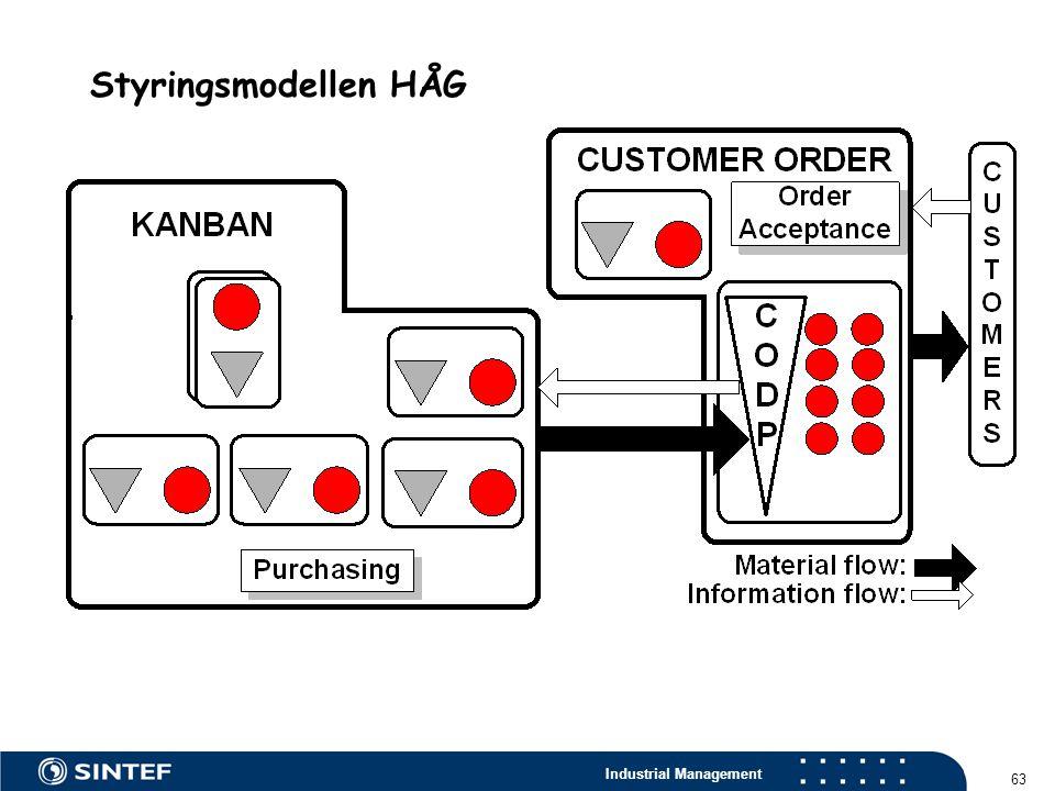 Industrial Management 63 Styringsmodellen HÅG