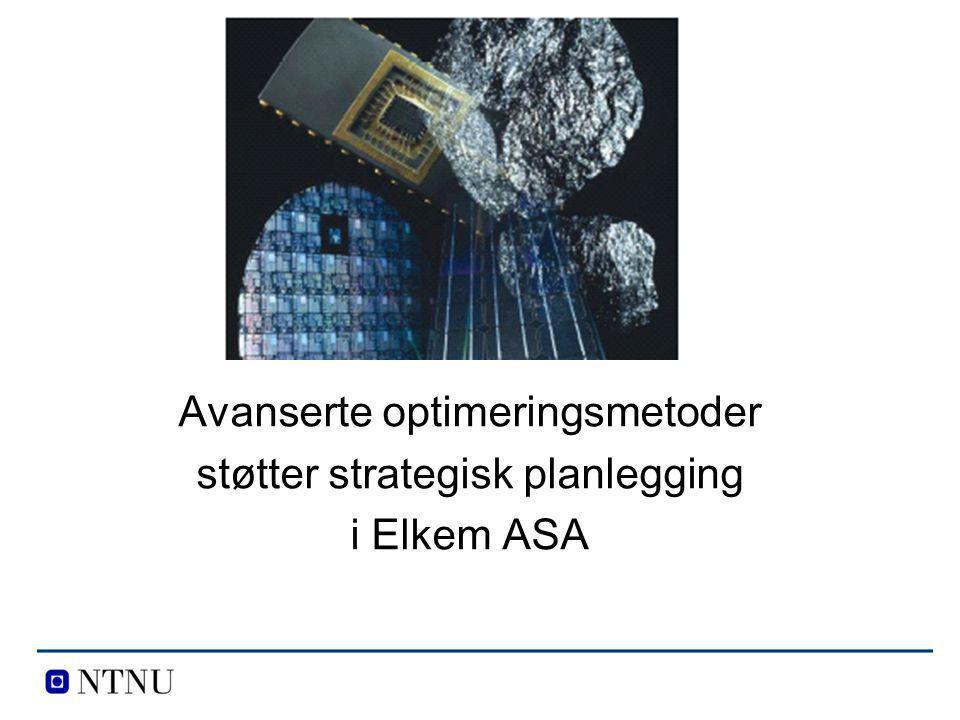 Avanserte optimeringsmetoder støtter strategisk planlegging i Elkem ASA