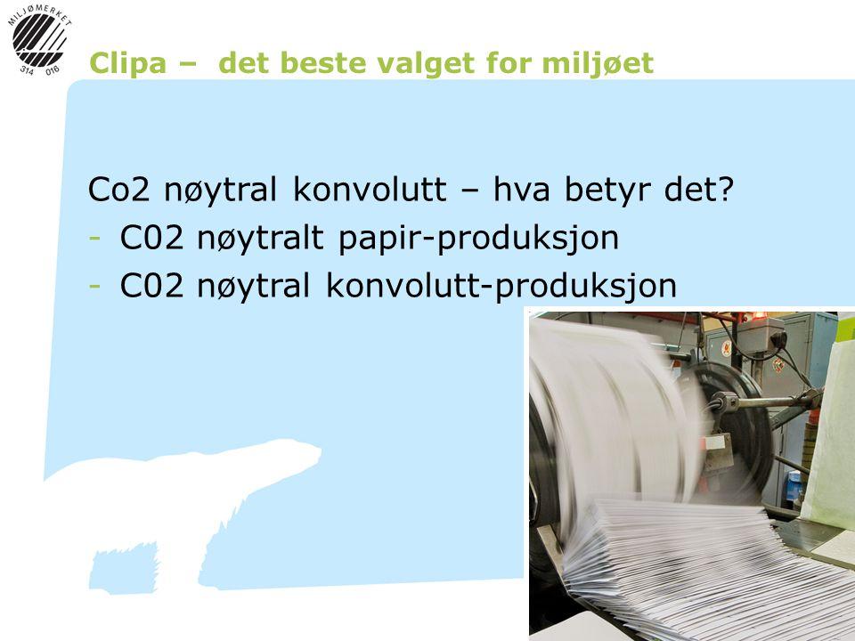 Clipa – det beste valget for miljøet Co2 nøytral konvolutt – hva betyr det.